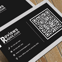 Chicago qr business card printing design print qr card printing reheart Image collections