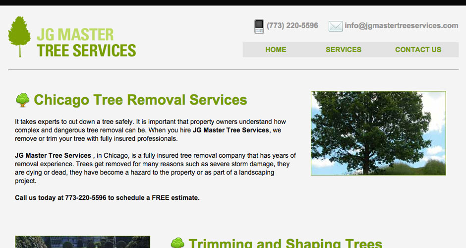 Websites for Landscaping and Tree Removal Companies